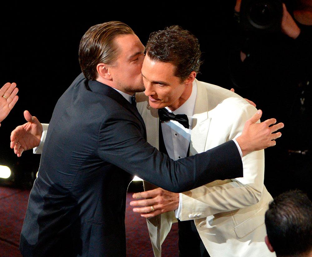 beso leonardo di caprio Matthew McConaughey