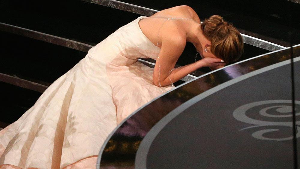 Las mejores caídas en los Oscars
